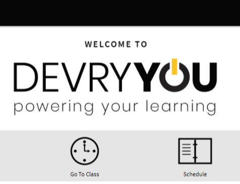 devry student portal login