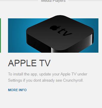 crunchyroll activate on apple tv