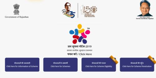 Jan Suchna Portal [Updated 2021] | राजस्थान जन सूचना पोर्टल